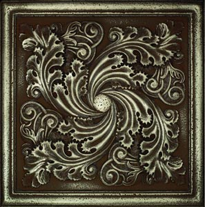 Daltile aged bronze 12 x 12 ceramic tile for Decorative tile mural