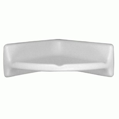 daltile universal white soap dish with washcloth holder ceramic tile